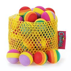 Chiwava 24PCS 12 Foam Small Cat Toy Ball Rainbow Antenna Balls Kitten Activity Chase Toys Assorted Color -- ** AMAZON BEST BUY ** #CatToys