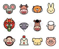 chinese zodiac art for kids / chinese zodiac art Zodiac Art, 12 Zodiac, Chinese Contemporary Art, Chinese Art, Easy Crafts For Kids, Art For Kids, New Year Art, Icon Collection, Chinese Zodiac