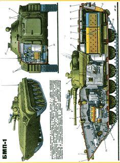 БМП-1 в разрезе