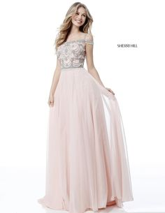 Buy dress style № 51658 designed by SherriHill Prom Dresses Long Pink, Straps Prom Dresses, Sherri Hill Prom Dresses, Beaded Prom Dress, Ball Dresses, Pretty Dresses, Homecoming Dresses, Beautiful Dresses, Evening Dresses