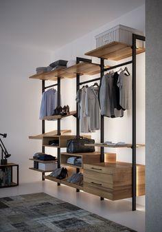 Wardrobe Room, Wardrobe Design Bedroom, Closet Bedroom, Walk In Closet Design, Closet Designs, Home Room Design, Home Interior Design, Industrial Closet, Closet Layout