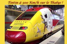 Tintin à 300 Km/h sur le Thalys !