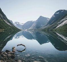 Morning dip in Norway