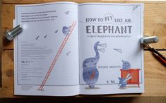 My first children's book How To Fly Like an Elephant  Paperback Country of origin United Kingdom Pages 32 Dimensions 280x212mm Language English Publication date 10th May 2018 Author and illustrator KYOKO NEMOTO Publisher Penguin Random House UK Puffin Books and V&A (Victoria and Albert museum publishing)  #children #book #art #kidsbook #bookillustration #storybook #kyokonemoto