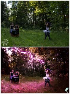 """""""Witches"""" by: Photography Dominik Lauter; picture editing: Céline Claire Stöger - Graphic Design & Digital Art / www.cc-graphicdesign.com)  Before and after my work"""