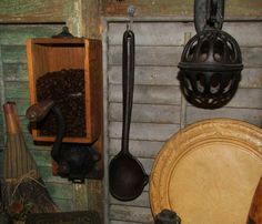 Primitive Antique Vtg Cast Iron Smelting Pouring Ladle Laddle ladel #NaivePrimitive