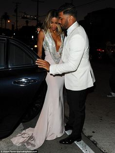 What a gent: Ciara and new husband Russell Wilson were obviously in the mood for some time...