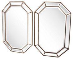 Italian Octagonal Mirrors, Pair   Taking It Uptown   One Kings Lane