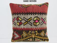 couch kilim pillow 18x18 oriental by DECOLICKILIMPILLOWS on Etsy