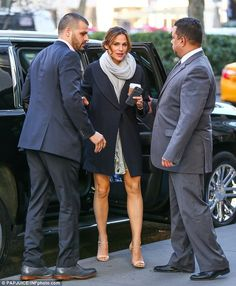 Fashionable arrival: Jennifer was later spotted heading to lunch in New York City after the morning chat show appearance