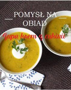 Pomysł na szybki, smaczny i zdrowy obiad. #Zupa krem z cukinii <3  Więcej: http://zielonakaruzela.pl/zupa-krem-z-cukinii/