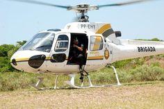 Brigada Militar Rio Grande do Sul - GPMA -Batalhão de Aviação da Brigada Militar (Brasil). http://www.pilotopolicial.com.br/helicoptero-da-brigada-militar-faz-pouso-forcado-em-guaibars/
