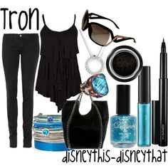 Tron, created by disneythis-disneythat on Polyvore