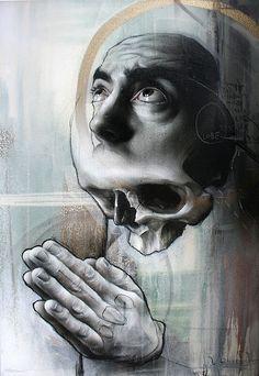 the great big graffiti, street art and alternative / guerrilla marketing thread - Page 6 Plakat Design, Traditional Paintings, Art For Art Sake, Street Art Graffiti, Graffiti Artists, Skull Art, Urban Art, Dark Art, Amazing Art