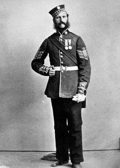 c1863 Colour Sgt.Alexander  Scots Fusilier Guards Photograph