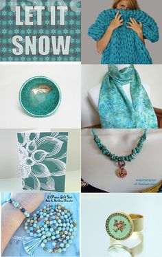 LET IT SNOW by Ellen Segal-Smith on Etsy--Pinned with TreasuryPin.com