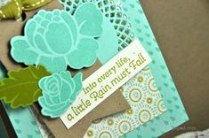 Into every life, a little rain must fall. #CheerUp Buttercup card