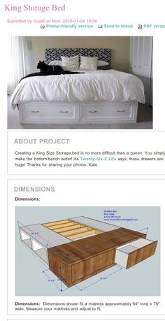 DIY King Storage Bed  Oh My Dad Sooo Has A Project.