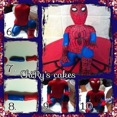 Tutorial Spiderman - step 2 #tutorial #spiderman #uomoragno #step2 #fondant #pdz…