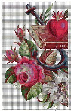 Gráfico-ponto-cruz-rosas-e-livro-1.jpg (1033×1600)