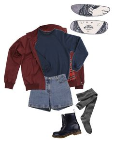 """bay"" by junk-food ❤ liked on Polyvore featuring Fred Perry, Ann Taylor, Dr. Martens, Gap, women's clothing, women's fashion, women, female, woman and misses"
