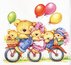 Teddy Bears - By: Marina Fedotova Tatty Teddy, Cute Images, Cute Pictures, Art D'ours, Art Mignon, Blue Nose Friends, Cute Clipart, Love Bear, Cute Teddy Bears