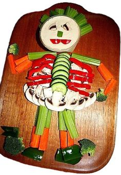Skeleton Veggie and Dip Tray. Easy and adorable!
