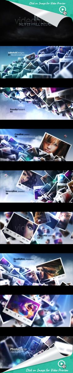 """clouds, intro, opener, photographer, photos, portfolio, promo, sky, website, after effects templates, after effects ideas, after effects motion graphics, after effects projects, videohive projects Features:  Trapcode Particular required Assets can be purchased at http://eu.fotolia.com/ Video Tutorial  Soundtrack: """"Euphoria Vol 3""""  by DEYCH Notes: The 3D intro is not included in the download. Replica, created in After Effects, can be purchased here."""