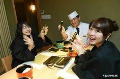 It is fun to chat with the chef while making rolled-sushi (maki-sushi) together! @ Shabu-shabu/sushi hassan Roppongi  #japan #japankuru #cooljapan #tokyo #100tokyo #shabushabu #sushi #hassan #roppongi