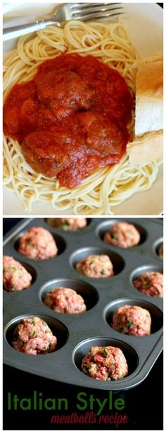 Delicious Italian Style Meatball recipe. Once you try this one, you won't go back! Perfect family meal idea.