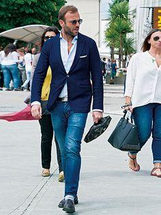 味出しデニムを合わて、「正統」と「個性」を両立しよう! | メンズファッションの決定版 | MEN'S CLUB(メンズクラブ)