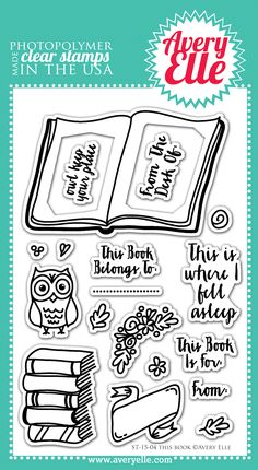 This Book clear stamps - #AveryElle #CHA #scrapbook