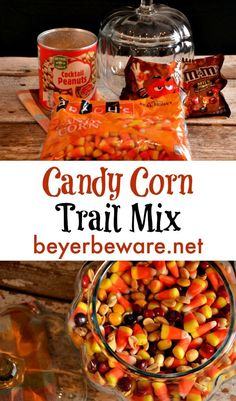 Candy corn trail mix has a combination of fall candy flavors that is just like a chocolate payday bar with the candy corn, peanut, and m&m trail mix. Trail Mix Recipes, Snack Mix Recipes, Fall Recipes, Holiday Recipes, Corn Recipes, Turkey Recipes, Christmas Recipes, Pie Recipes, Chicken Recipes