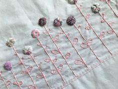 Pink Yoyo Garden Hand Made Pillowcase set (2) Vintage Style