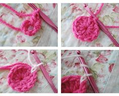 To beg - chain (ch) 5 and join to form a circle     Round 1:  ch 2, 11 double crochet (dc) into ring                    Round 2:  change to ...