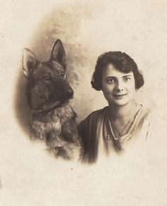 Antique Photo Postcard German Shepherd Belgian Malinois Dog Glamour Lovely Lady | eBay