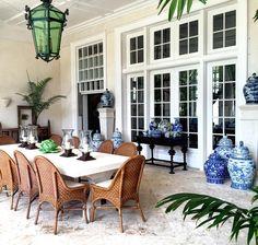 Bunny Williams' and John Rosselli's home la Colina in Punta Cana.