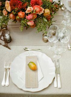 Fall entertaining table
