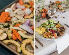 Apples, herbs and a little bourbon makes these roasted veggies the ultimate healthy fall side dish... Vegan Thanksgiving Dinner, Thanksgiving Side Dishes, Thanksgiving 2017, Thanksgiving Recipes, Traditional Thanksgiving Sides, Roasted Vegetables, Veggies, Vegetable Side Dishes, Dinner Recipes