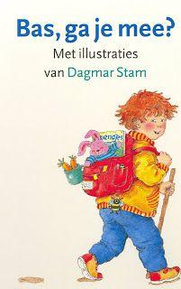Bas ga je mee/ Dagmar Stam  Boek met schitterende illustraties van herkenbare dingen voor kinderen