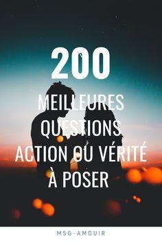 100 Questions, Couple Tag Questions, Msg D Amour, Couple A Distance, Couple Test, Trivia, Challenge Games, Positive Attitude, Life Lessons