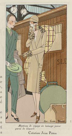 Art - Goût - Beauté, Feuillets de l' élégance féminine, Février 1926, No. 66, 6e Année, p. 18: Création Jean Patou, Anonymous, Jean Patou, Charles Goy, 1926