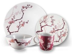 It's about time: tattoo art invades family dinnerware #CherryBlossom