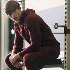 The calm before the storm. David Laid getting in the zone before his workout in the Apex tracksuit.