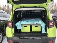 Robin Van, Car Camper, Honda Element, Jeep Renegade, Camping, Party Centerpieces, Happy Campers, Car Stuff, Cross Country