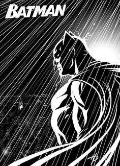 Quickly drew this black and white Batman pic, based on the popular graphic novels. Batman: Black and White Batman Comic Books, Batman Comics, Comic Books Art, Comic Art, Book Art, Im Batman, Batman Art, Batman Robin, Batman Silhouette