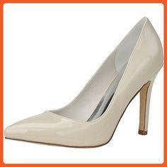 LOSLANDIFEN Women's Patent Leather Elegant High Heels Pointed Toe Wedding Shoes(0608-15PA36,Nude) - Pumps for women (*Amazon Partner-Link)