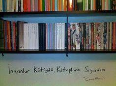 İnsanlar kötüydü, kitaplara sığındım. - Cemil Meriç #şiir #cemilmerıc