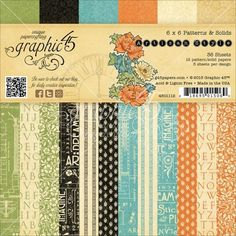 Graphic 45 6x6 Paper Pad, Artisan Style, 36 Sheets, 1920's & 1930's Style Prints. CLEARANCE by HappyHummingbirds on Etsy
