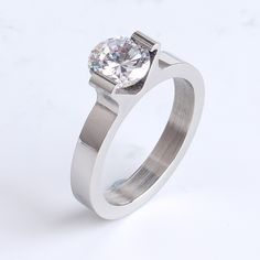 Find More Rings Information about 4MM silver clip zircon Square 316l Stainless Steel finger rings for women wholesale,High Quality ring aid,China steel wire key ring Suppliers, Cheap steel ridge from Chinese Jewelry Factory,Wholesale From Yiwu China on Aliexpress.com